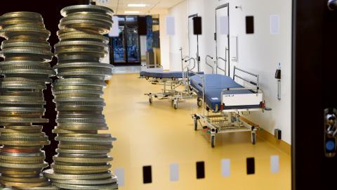 """""""Jag tycker att när man uppsöker vården så förtjänar man att slippa fundera på huruvida det ligger en vinstkalkyl bakom den behandling man fick"""", skriver Håkan Jörnehed (V).  Bild: Montage"""