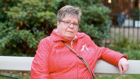 Livet efter sjukdomen. När strålbehandlingen var klar kände Anita Ekström att hon behövde aktivera sig och gick med i patientföreningen Johanna i Göteborg där hon i dag är aktiv som kassör.  Bild: Stina Berglund