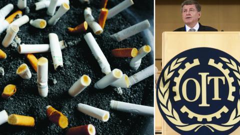 Världens tobaksbolag satsar i högre grad på fattigare länder. Guy Ryder, Generaldirektör för ILO, Internationella arbetsorganisationen. Bild: Mark Lennihan/AP & Laurent Gillieron/AP