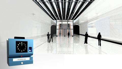En visualisering av konstverket och stationen. Bild: Anna Heymowska