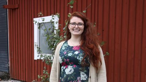 """2016 fick Majja Almqvist motta utmärkelsen """"Årets unga landsbygdsentreprenör"""".   Bild: Anna-Stina Stenbäck"""