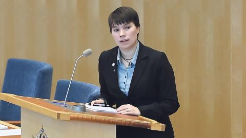 Miljöpartiets Annika Hirvonen Falk är en av dem som vill förändra hela systemet med personnummer och införa nordiska personnummer. Bild: Janerik Henriksson/TT