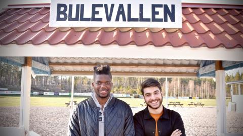 Rogerio Silva och Shanga Aziz. Bild: Patrik Klavebäck/Smålands-Tidningen