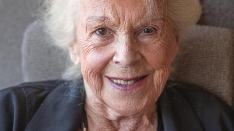 – Det mest fantastiska är att personalen lyssnar på mig. Och att de är så in i norden vänliga, säger Inger Jahns, 88, som vistats länge på Hospice.