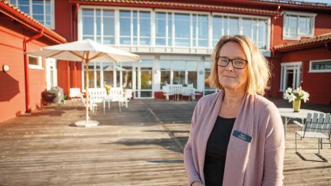 – Om man har en begränsad tid kvar, då blir det på något sätt den enda viktiga frågan: ska jag dö hela tiden, eller ska jag leva under tiden, säger Åsa Pellikka som är verksamhetschef på Mellannorrlands Hospice.