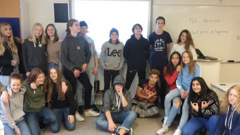Klass 9G2 på Kristinebergsskolan i Åmål. Bild: Privat