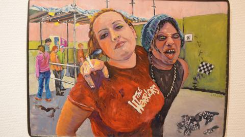 Festivalbesökare avmålade av Liselotte Kronkvist.