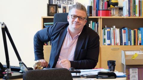 Också elever med problem söker sig hit, där den kommunala skolan misslyckats, säger Markus Brunfelt, rektor på Kunskapsskolan i Norrköping.  Bild: Åke Lindgren