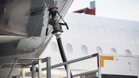 SAS-flygplanet Airbus 320 Neo premiärtankades i januari i år med biobränsle. Bild: Christine Olsson/TT