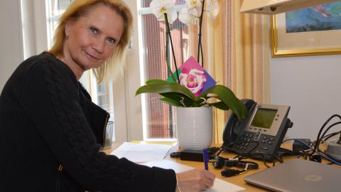 Socialchefen i Ljusnarsbergs kommun, Marie-Louise Fransson-Forsberg, ser vinster för individen och besparingar för kommunen i och med den nya tjänsten.   Bild: Rolf Larsson