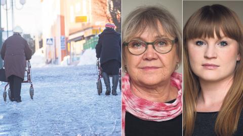 Ann-Margarethe Livh (V) och Clara  Lindblom (V). Bild: Fredrik andberg/TT