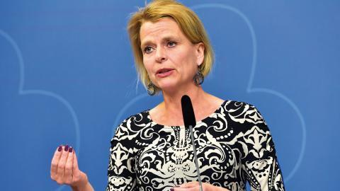 Barn-, äldre- och jämställdhetsminister Åsa Regnér är värd för konferensen #EqualityWorks17.  Foto: Jonas Ekströmer / TT