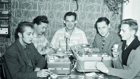 Bandspelarklubben i Bångbro 1959.  Bild: Nya Kopparbergs Bergslags hembygdsförening