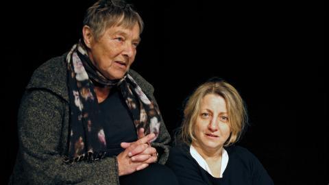 """Maria Hörnelius och Mirja Burlin ligger bakom """"Sång för Kassandra"""" som nu spelas på Teater Trixter. Foto: Christian Egefur"""