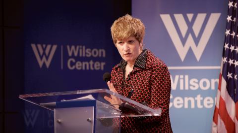 """Kate Gilmore, FN:s biträdande högkommissionär för mänskliga rättigheter var en av talarna på kongresssen. """" Ungdomar måste ha tillgång till sjukvård utan att behöva vara rädda för att bli anmälda, gripna eller deporterade"""", säger hon. Bild: ECSP"""