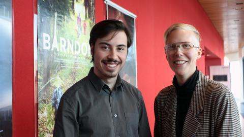 Daniel Tollefsen Altamirano, redaktör och programmedarbetare, och Karin  Johansson, festivalproducent och konstnärlig ledare på UEFF.   Bild: Liselott Holm