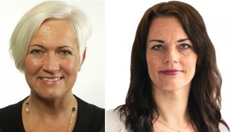 Acko Ankarberg Johansson (KD) och ETC:s ledarskribent Veronica Palm. Bild: Riksdagen