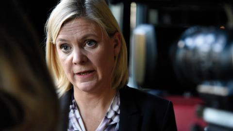 """""""En farlig utveckling"""" och """"helt oacceptabelt"""" har finansminister Magdalena Andersson (S) kallat avslöjandena som följt av Paradisläckan. Bild: Thommy Tengborg/TT"""