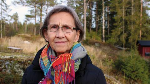 Sylvia Bäckström från Judiska föreningen skulle gärna se att föreningen fick dela lokaler med andra nationella minoritetsgrupper i ett Minoriteternas hus.  – Man skulle bara kunna smälta in, det skulle inte vara lika lätt att identifiera vem som är vad.  Bild: Liselott Holm