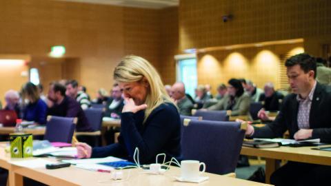 Malin Wengholm (M) har försökt förhandla      med SD om regionfullmäktiges budget. Men övriga allianspartier satte stopp.  FOTO: Daniel Johansson