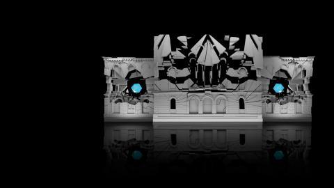 I morgon klockan 18.00 är det premiär för årets föreställning på teatern, som sker i samarbete med prisbelönta ungerska gruppen Limelight Projection Mapping och Light Installation, som gör bejublad fasadkonst över hela världen.   Bild: Press