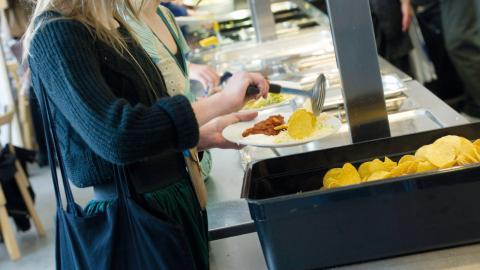 Det är inte lätt för länets ungdomar att få vegansk mat i skolan. Flera kommuner erbjuder bara specialkost av medicinska skäl och de flesta veganer har andra skäl för sin kosthållning.  Bild: Fredrik Sandberg/TT
