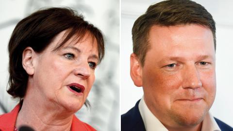 Annelie Nordström, politiker i Fi och Kommunals tidigare ordförande. / Tobias Baudin, Kommunals ordförande. Bild: Pontus Lundahl/TT / Marcus Ericsson/TT