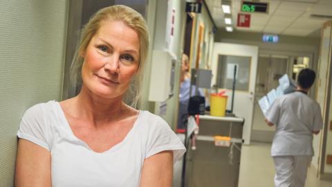 """Susanne Falck, barnmorska på Karolinska universitetssjukhuset, tror att cheferna är omedvetna om många saker. """"Som medarbetare känns det osäkert om personen ens vet vad man gör"""", säger hon. Bild: Malin Jansson"""