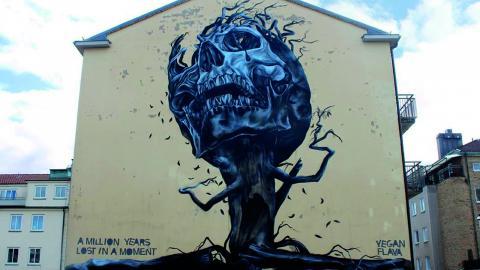Konsten beskrivs som visuell aktivism och direkt aktionsmåleri, den återfinns ofta på byggnader och bland nedlagda lokaler.  Pressbild