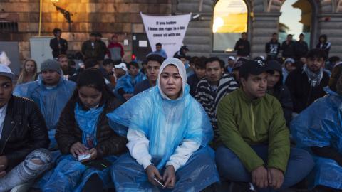 Fatima Khavari är talesperson för Ung i Sverige som arbetar för att stoppa utvisningar av ensamkommande.  Bild: Stina Stjernkvist/TT