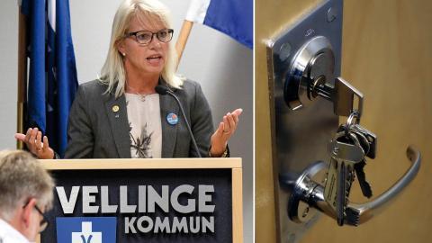 Carina Wutzler (M) kommunalråd i Vellinge .  Bild: Johan Nilsson/TT