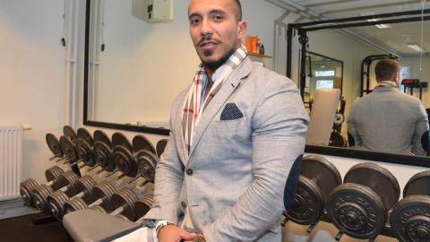 """Jasin Boukli är studenternas representant i den nya föreningen. """"Det har varit en del tjuvtränande men nu kommer det att bli tätare kontroller av vilka som tränar här"""", säger han.  Bild: Rolf Larsson"""