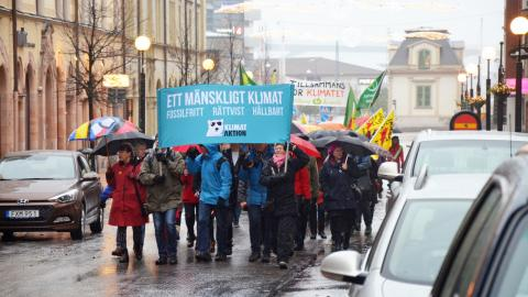 I november 2015 marscherade Sundsvallsborna för klimatet. Bild: Thomas Ekenberg