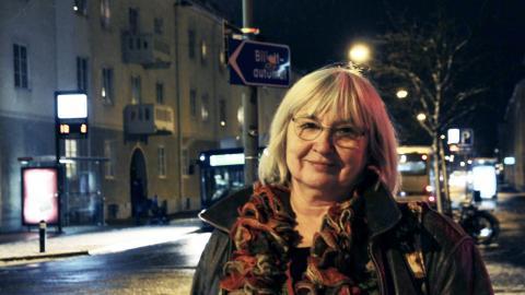 För Lena Nilsson är det en självklarhet att ordna en manifestation till stöd för alla de som utsatts för sexuella trakasserier, övergrepp och ofredanden.  Bild: Jennifer Berg