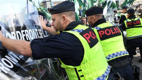 NMR och polis 30 september. Foto: Fredrik Sandberg / TT