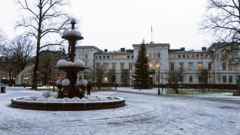 Nyårsfirandet blir av  i Rådhusparken som tidigare.   Bild: Daniel Johansson