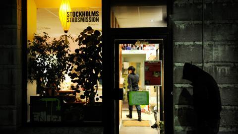 Under storhelger är ensamheten extra påtaglig och julen är för många en smärtsam påminnelse om avsaknaden av ett hem och en familj, berättar Maria von Sydow på Stockholms stadsmission.   Bild: Malin Hoelstad/SvD/TT