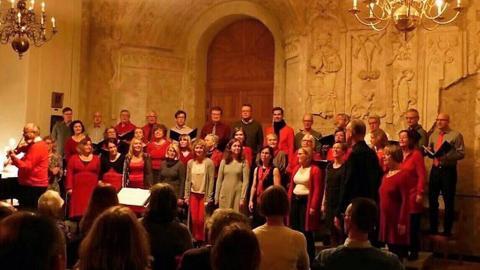 Vokalensemblen Uppslaget ger en julkonsert med stora inslag av tradition och igenkänning på Uppsala slott 19 december.  Bild: Marianne Ringefors