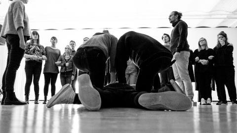 """Pjäsen """"Kropp & straff"""" är en uppföljning till """"Våld & pedagogik"""".  Bild: Alexander Tenghamn"""