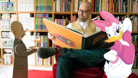 Fredrik Strömberg, vice ordförande för Seriefrämjandet. Bild: Janus Langhorn