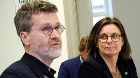 Ulf Kamne och Isabella Lövin, MP. Foto: Lucas De Vivo