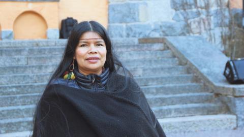 I Sverige pågår nu en namninsamling till stöd för miljöaktivisten Patricia Gualinga Montalvo som hotats till livet i sitt hem i Ecuador.  Bild: Anna Nylander