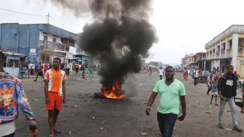 Demonstrationerna i Kongo eskalerar – men Joseph Kabila sitter fortfarande kvar vid makten. Bild: John Bompengo/AP