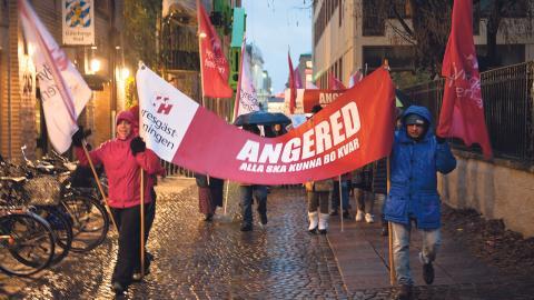 Affären i Rannebergen mötte stora protester. Foto: Martin Spaak