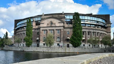 Riksdagshuset. Foto: Stina Stjernkvist / TT