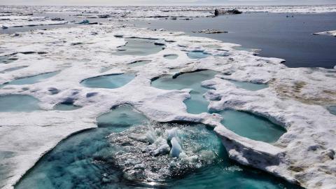 I Arktis går uppvärmningen dubbelt så snabbt som i resten av världen – vilket förvirrade datorn på en väderstation i Alaska.  Bild: David Goldman/AP