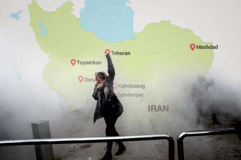 Kraftiga protester mot regimen har brutit ut i flera städer runtom i Iran, bland annat i Teheran. Bild: AP Photo