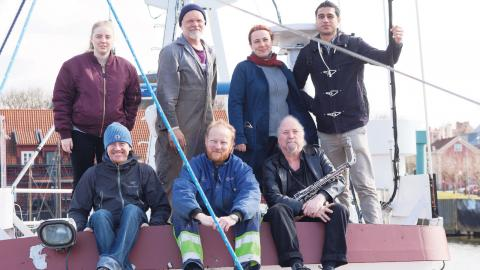 Besättningen som lämnade Göteborgs hamn 2015.