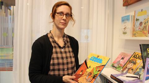 Susanne  Jacobsson,  bibliotekarie. Bild: Jenny Wickberg