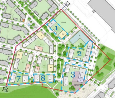 I område nr 8 har ETC Bygg fått markanvisning. Bild: Västerås kommun